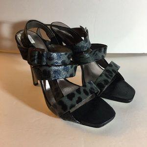 Bisou Bisou strappy Leopard Print heels